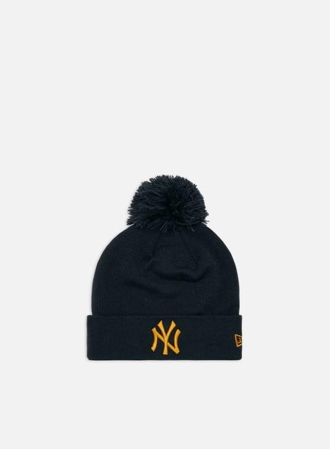 Outlet e Saldi Cuffie New Era League Essential Bobble Cuff Knit Beanie NY Yankees