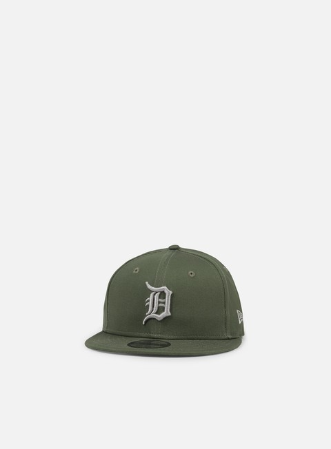 cappellini new era league essential snapback detroit tigers olive green grey