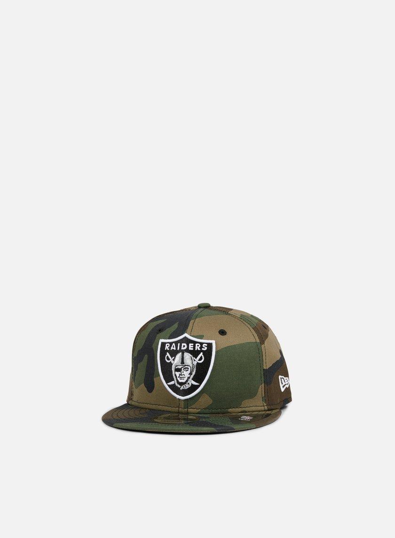 New Era - League Essential Snapback Oakland Raiders, Woodland Camo