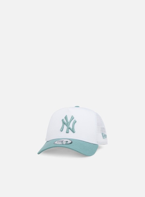 cappellini new era league essential trucker ny yankees white beach kiss blue