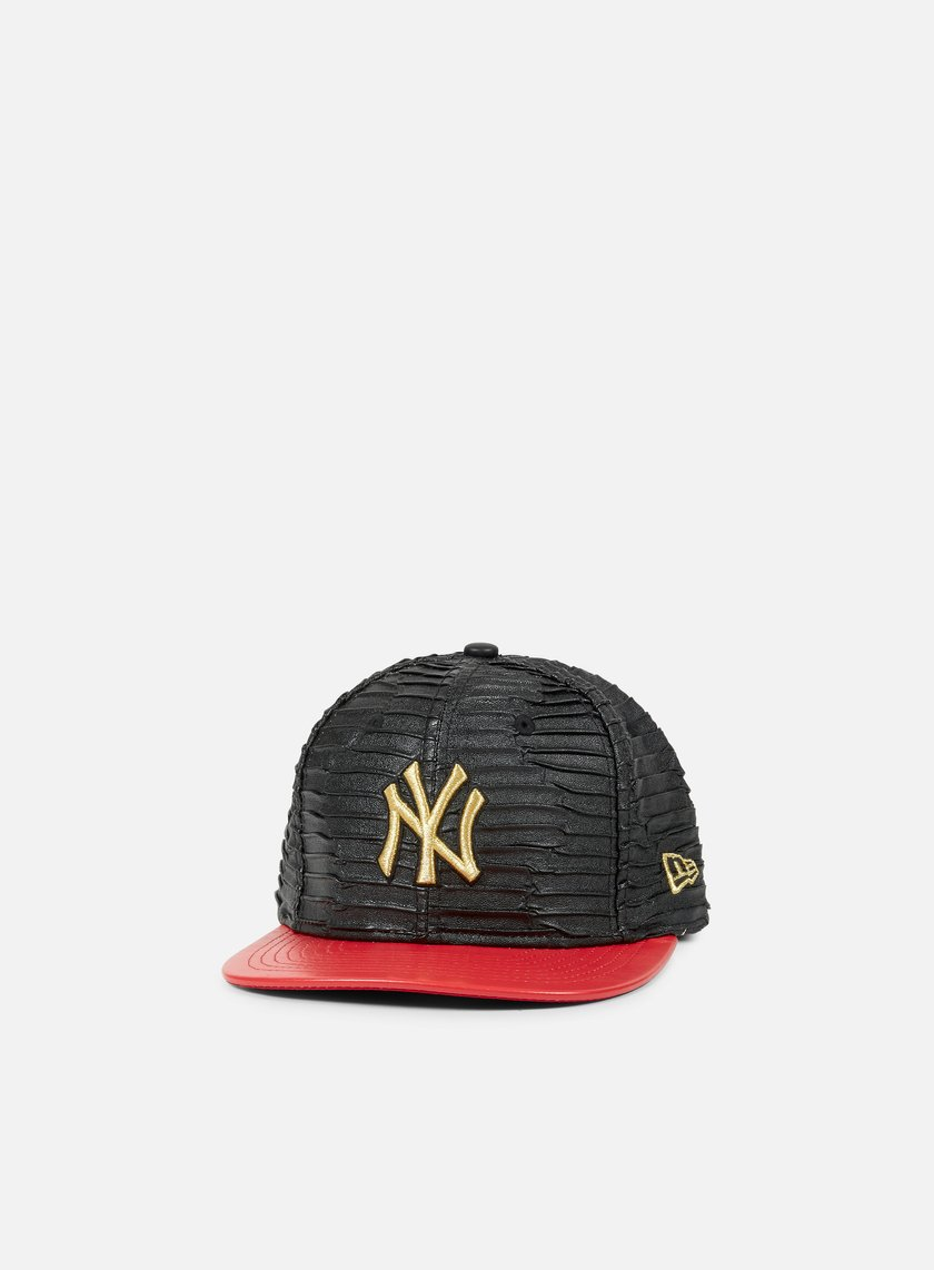 New Era - Leather Wave Snapback NY Yankees, Black/Scarlet/Gold