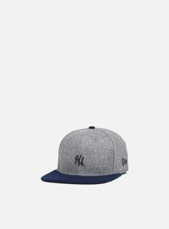 New Era - Melton Mini Logo Snapback NY Yankees, Heather Grey/Navy 1