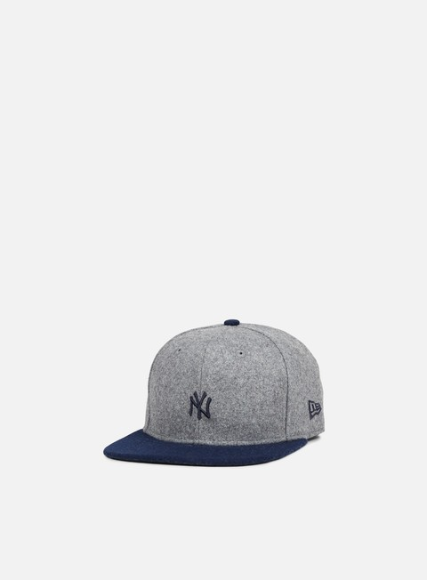 cappellini new era melton mini logo snapback ny yankees heather grey navy