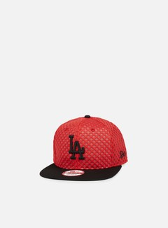 New Era - Mesh Crown Snapback LA Dodgers, Scarlet/Black