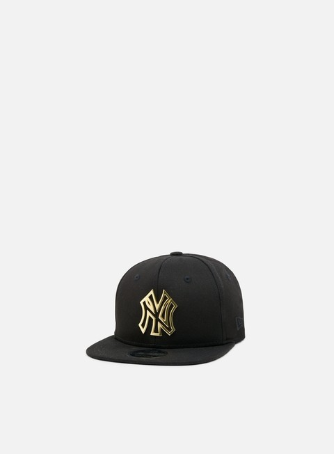 cappellini new era metal badge 9 fifty snapback ny yankees black gold