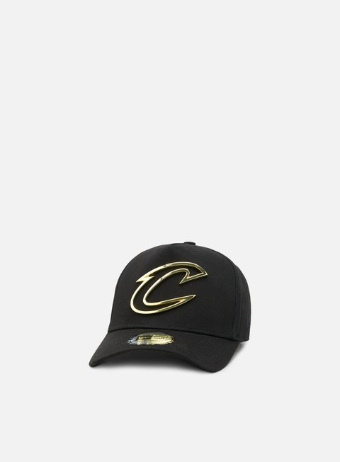 cappellini new era metal badge aframe snapback cleveland cavaliers black gold