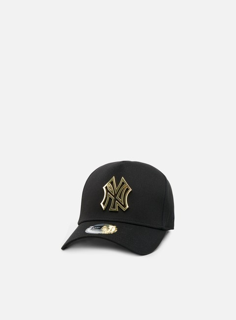 cappellini new era metal badge aframe snapback ny yankees black gold