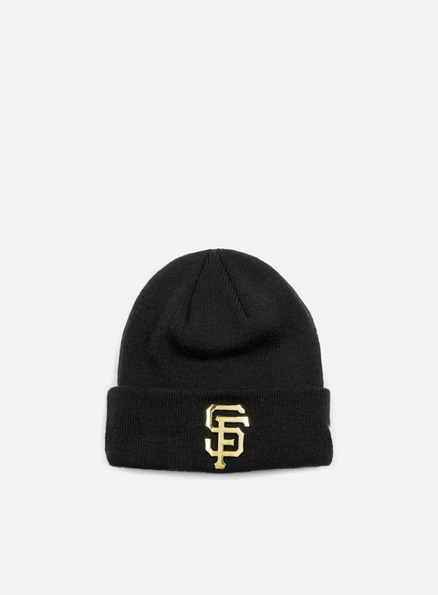 cappellini new era metal cuff beanie san francisco giants black gold