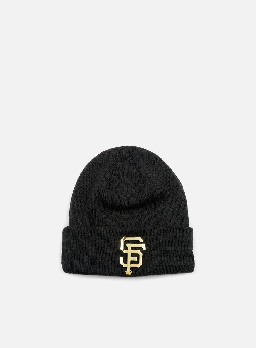 New Era - Metal Cuff Beanie San Francisco Giants, Black/Gold