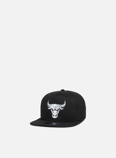 cappellini new era metallic logo snapback chicago bulls black