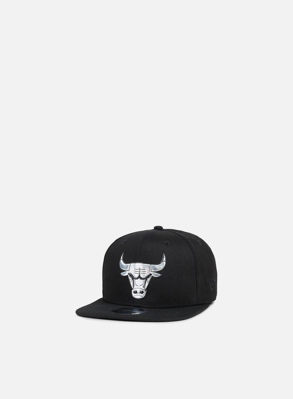 New Era - Metallic Logo Snapback Chicago Bulls, Black