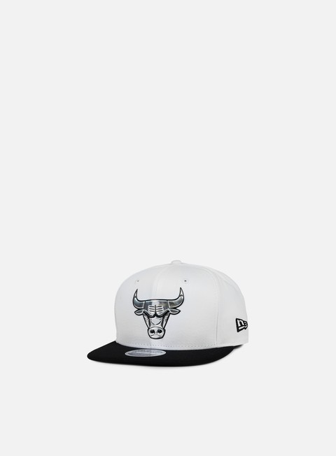 cappellini new era metallic logo snapback chicago bulls white
