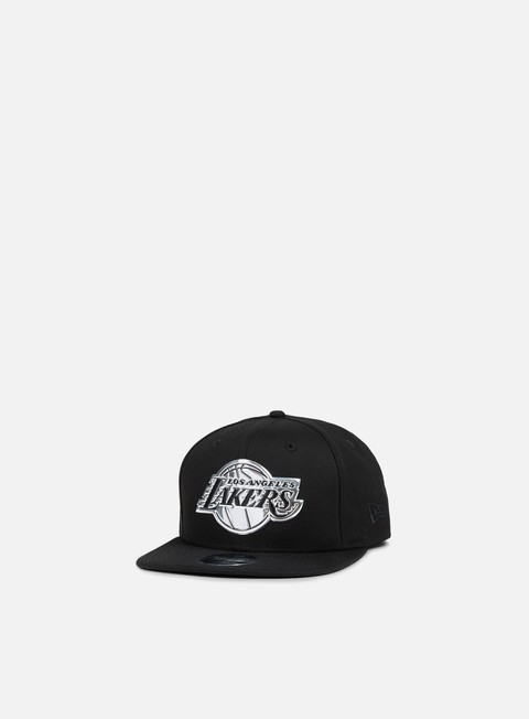 cappellini new era metallic logo snapback los angeles lakers black