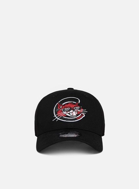 Curved Brim Caps New Era Minor League Patch 9Forty Strapback Charleston Alley Cats