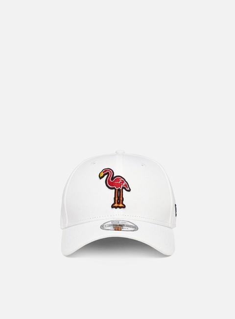 Cappellini con visiera New Era Minor League Patch 9Forty Strapback Miami Beach Flamingos