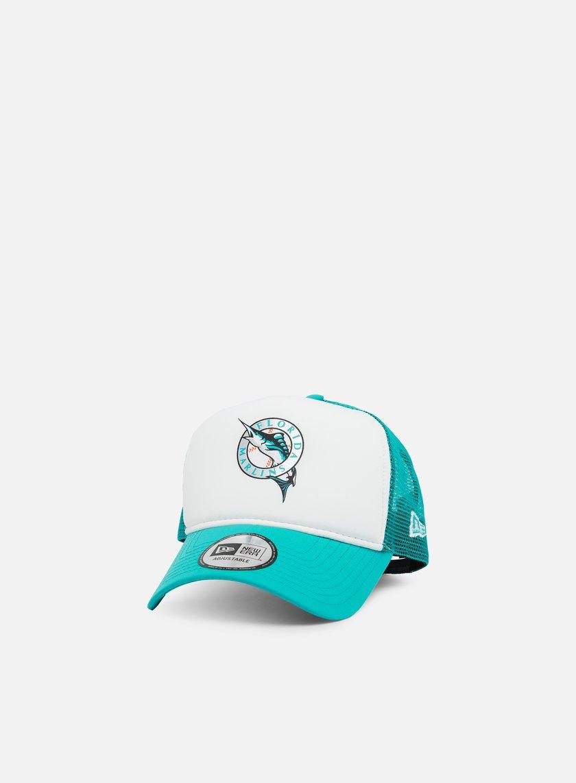 de88a7a3ee006 NEW ERA MLB Coast 2 Coast Trucker Florida Marlins € 16 Curved Brim ...