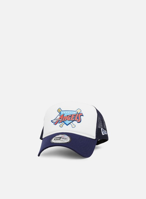 Outlet e Saldi Cappellini Visiera Curva New Era MLB Coast to Coast Trucker Anaheim Angels