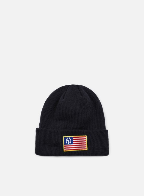 cappellini new era mlb flag knit beanie ny yankees navy