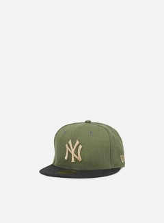 New Era - MLB Heather Contrast NY Yankees, Rifle Green