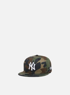 New Era - MLB League Essential Snapback NY Yankees, Woodland Camo