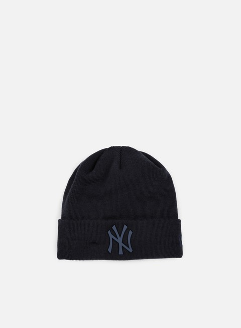 cappellini new era mlb metal badge cuff ny yankees beanie navy