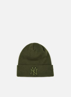 New Era - MLB Metal Badge Cuff NY Yankees Beanie, Rifle Green