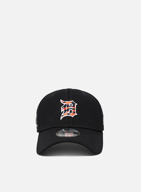 Curved Brim Caps New Era MLB20 39Thirty Batting Practice Cap Detroit Tigers