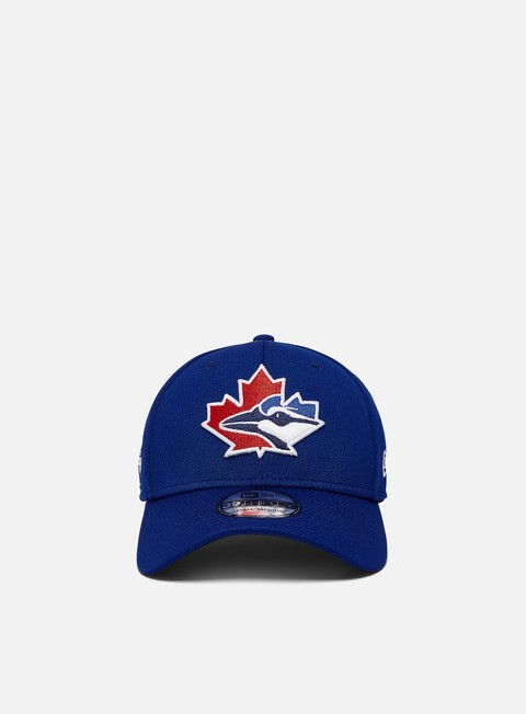 Curved Brim Caps New Era MLB20 39Thirty Batting Practice Cap Toronto Blue Jays