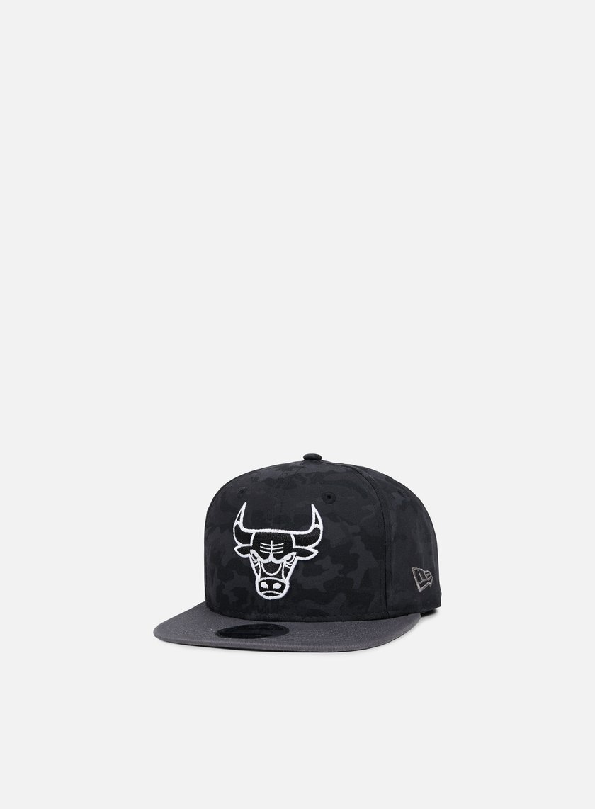 New Era - NBA Camo 9Fifty Snapback Chicago Bulls, Black Camo/Grey