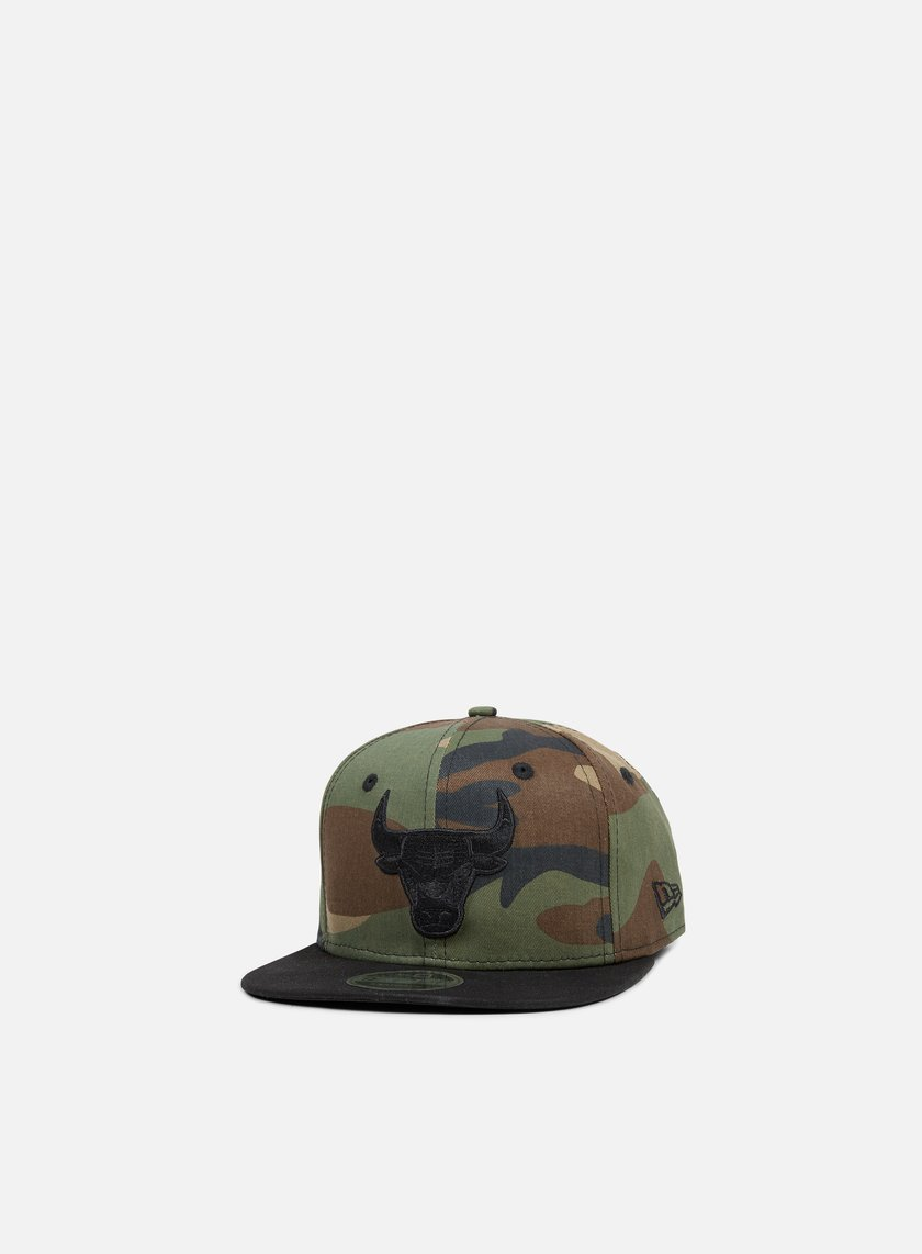 New Era - NBA Camo 9Fifty Snapback Chicago Bulls, Woodland Camo/Black