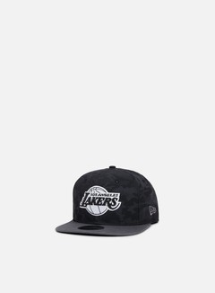 New Era - NBA Camo 9Fifty Snapback Los Angeles Lakers, Black Camo/Grey