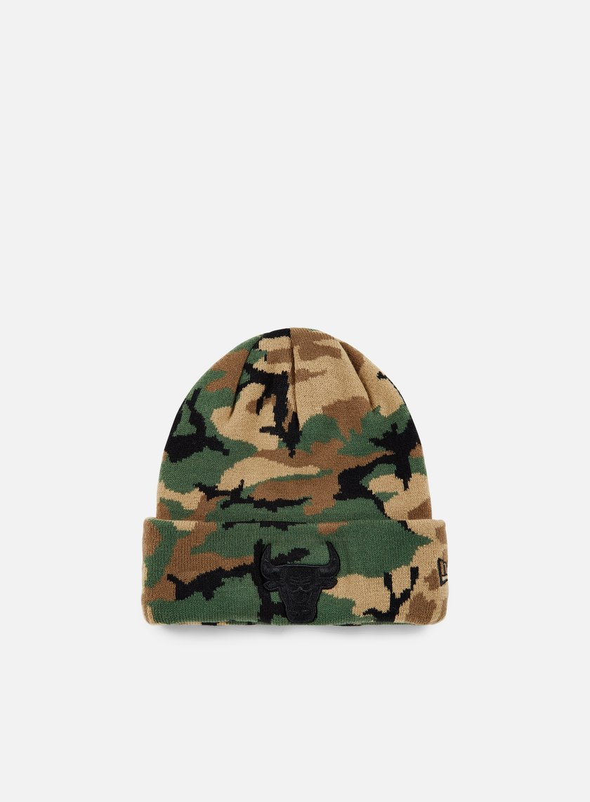 New Era NBA Camo Knit Beanie Chicago Bulls