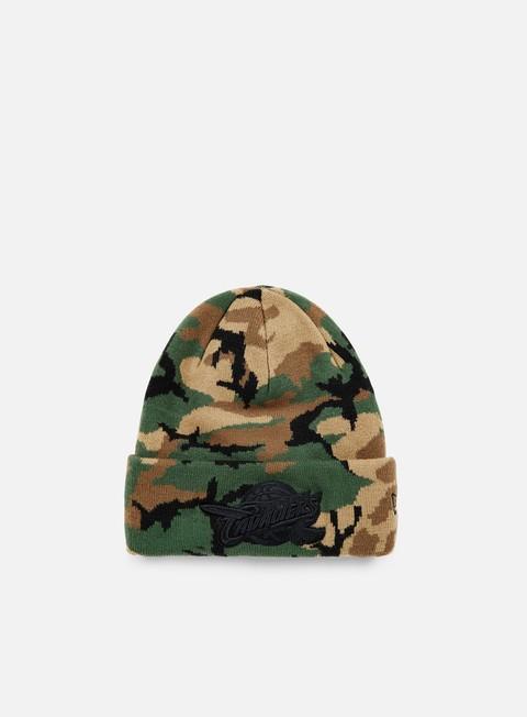cappellini new era nba camo knit beanie cleveland cavaliers woodland camo
