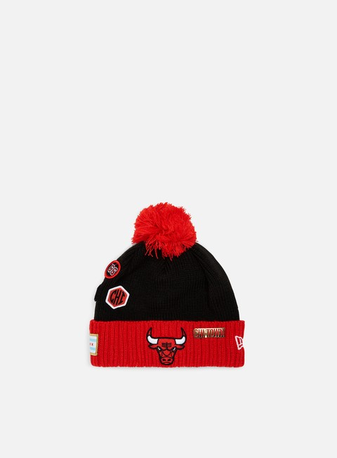 cappellini new era nba draft knit beanie chicago bulls official team colour