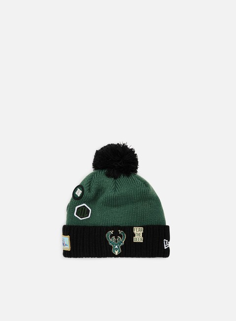 New Era NBA Draft Knit Beanie Milwakee Bucks