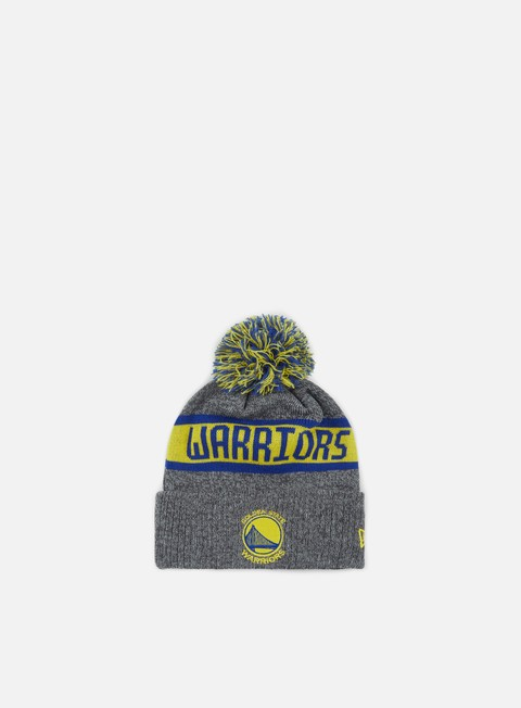 cappellini new era nba marl knit beanie golden state warrios grey team colors