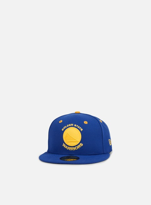 cappellini new era nba rubber logo golden state warriors light royal gold