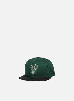 New Era - NBA Team Snapback Milwaukee Bucks, Team Colors 1