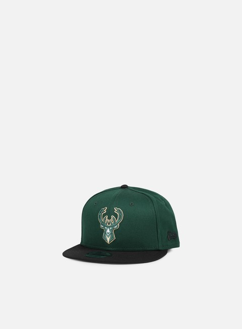 Outlet e Saldi Cappellini Snapback New Era NBA Team Snapback Milwaukee Bucks