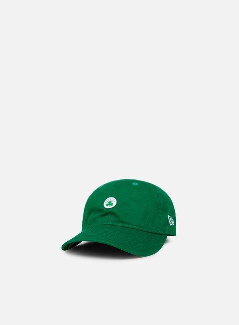 Curved Brim Caps New Era NBA Unstructured 9Fifty Strapback Boston Celtics