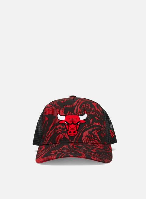 Cappellini con visiera New Era NE Seasonal Camo Trucker Chicago Bulls