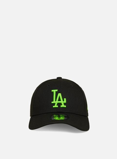Outlet e Saldi Cappellini con visiera New Era Neon Pack 9Forty Strapback LA Dodgers