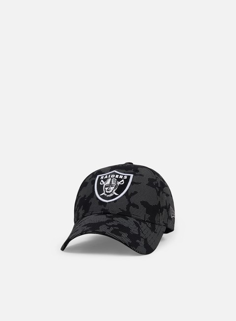 Outlet e Saldi Cappellini Visiera Curva New Era Night Time Reflective 9Forty Strapback Oakland Raiders