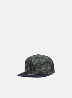 New Era - Nylon Camo Denim Snapback LA Dodgers, Navy/Olive 1