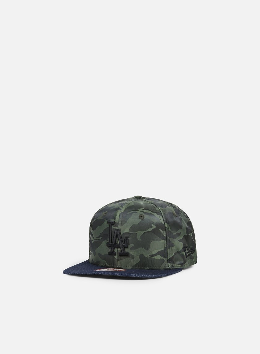 New Era - Nylon Camo Denim Snapback LA Dodgers, Navy/Olive