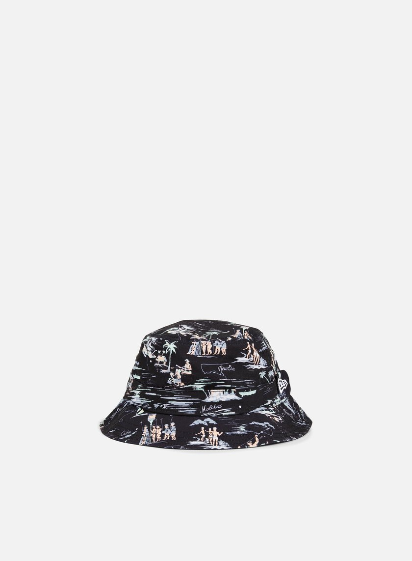 New Era - Offshore AOP Bucket Hat, Black