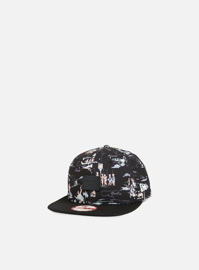 New Era - Offshore Crown Patch Snapback, Black/Black