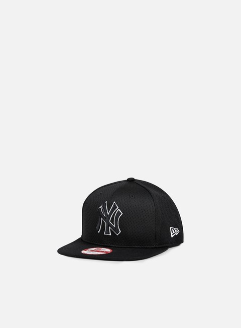 cappellini new era outline mesh snapback ny yankees black black