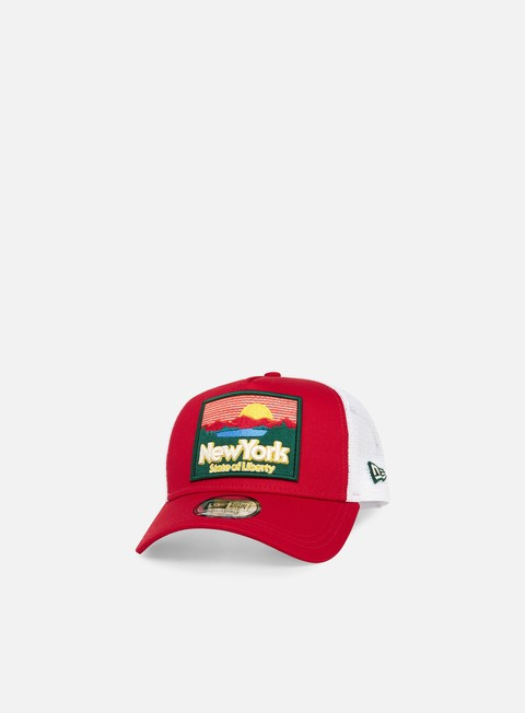 Outlet e Saldi Cappellini Trucker New Era Patch NY State 9Forty Trucker