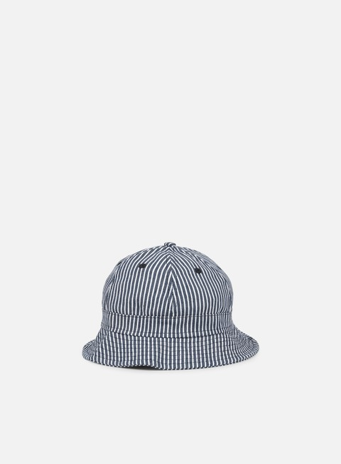cappellini new era pinstripe bucket hat navy white